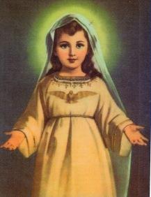 Risultato immagine per preghiera a maria bambina